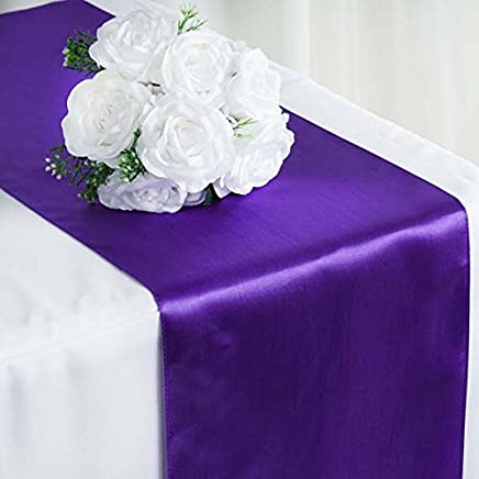 c36953ef929 Efavormart 10 Packs of Premium Satin Table Top Runner for Weddings Birthday  Party Fit Rectangle and