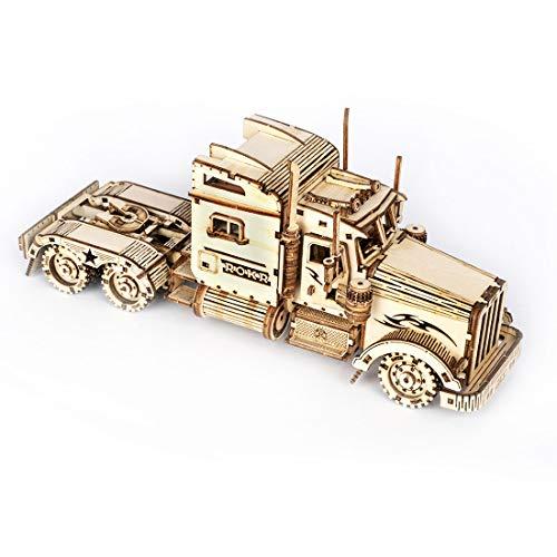 ZCXX 3D Puzzle Holz LKW Holzpuzzle Modellbau Holzbausatz Puzzle für Kinder und Erwachsene