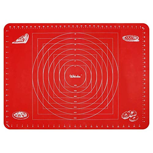 webake Tappetino da Forno in Silicone Rosso 70 x 50 cm