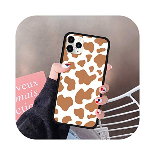 Funda para iPhone 12 11 Pro XS MAX 7 SE20 XR X 8 6Plus Silicona púrpura PC Hard Cover Mate Fundas-Style 3-For 11 Pro Max