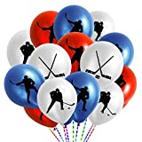 60PCS Hockey Party Decorations Latex Balloons - Hockey/Sport Game Birthday Party Supplies Favors