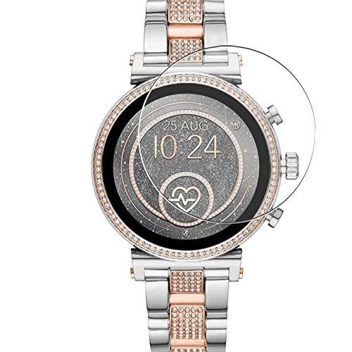 Vaxson 3 Unidades Protector de Pantalla de Cristal Templado, compatible con Michael Kors MKT5064 Smart Watch, 9H Película Protectora Film Guard Nueva Versión