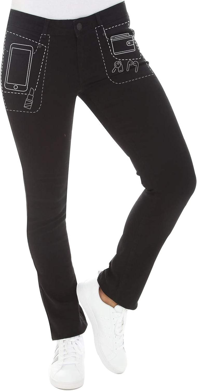 Radian Jeans Straight Leg Jeans - Deep Pocket Mid Rise Stretch Denim Pants for Women