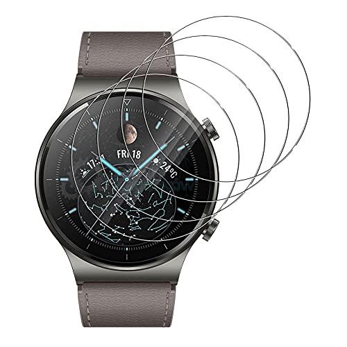 GEEMEE für Huawei Watch GT2 Pro Panzerglas Schutzfolie, 4 Pack 9H Festigkeit Easy Installation, Premium Bruchsicher Gehärtetes Glas Schutzfolie für Watch GT 2 Pro