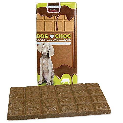 Dog Choc Hundeschokolade mit Pansen3 x 100g Zartschmelzende Schokolade mit speziellen Rezepturen nur für Hunde
