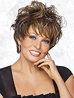Enchant Short Wig Color RL12/22SS SHADED CAPPUCCINO - Raquel Welch Wigs Tru2Life Heat Friendly Synthetic Women's Classic Cut Shag Straight or Touseled Curls