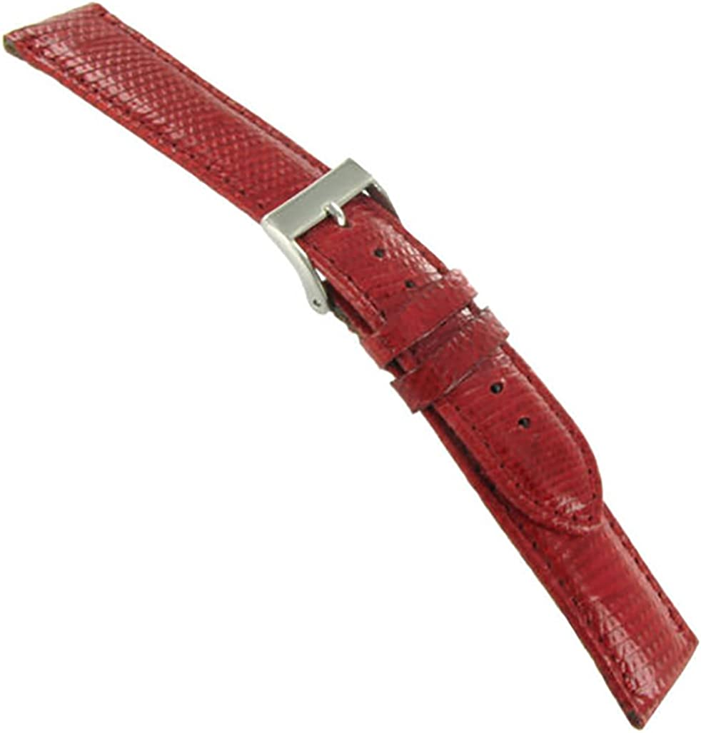 18mm Morellato security Genuine Lizard 2021new shipping free shipping Padded Red Ban Mens Watch Stitched