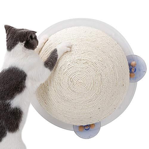 before now Halbkugelförmiges großes Katzenkratzbrett, Spielzeug-halbrunde Sisal-Katzengreifersäule, Saugnapf-Typ Fensterbank-Wandtyp Luftgreifer-Typ Tragbarer Grabboden