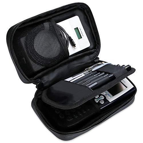 Ditto Astuccio Matite, Grande Capacità Stationery Pouch Multi-Functional Astuccio per Penna Astuccio per Cancelleria con Tasche a Rete per Marcatore Eraser Texas Instruments TI-84 / Plus –Nero