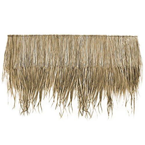 Wilai Palmdach Paneele Palmschindel Palmenblätter | Nachhaltiges Naturmaterial | Wetterfest Regendicht und Langlebig | Innen- und Außenbereich | ca. 145 cm x 80 cm | 5 Stück