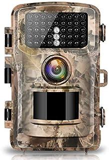Campark Wildlife Cámara de Caza HD IP66 Trail Cámara 120 ° Gran Angular con Activación por Sensor de Movimiento Visión Nocturna e Infrarrojos Indicada para Vigilancia en Interiores e Exteriores