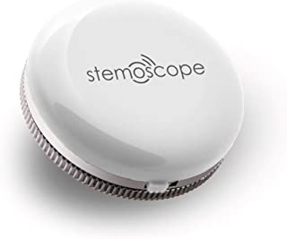 Stemoscope Smart Wireless Listening Device - Fitness Tracker for Monitoring Body Sound and Heart Rhythm (White)