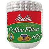 Melitta (63113) Super Premium 8-12 Cup Basket Coffee Filters, White, 600 Count