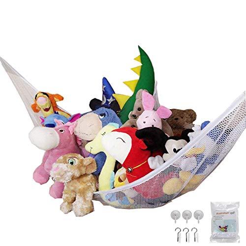 おもちゃハンモック 収納ネット 吊り下げ式 子供玩具収納 ぬいぐるみ用 お風呂用 多用途 子供 部屋 室内 用 収納 片付け(213*150*150cm)