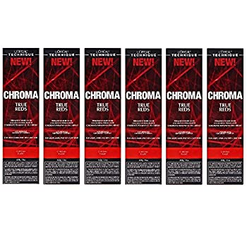 L Oreal True Reds Chroma Flame Permanent Hair Color Tint HC-22917  6 Pack