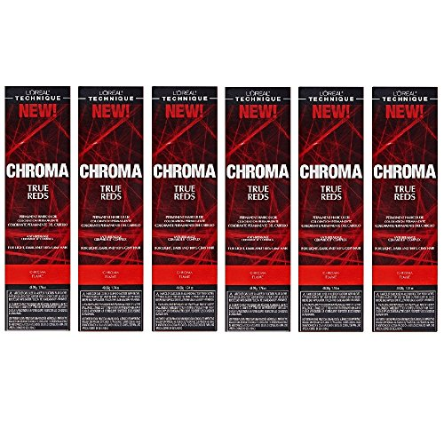L'Oreal True Reds Chroma Flame Permanent Hair Color Tint HC-22917 (6 Pack)