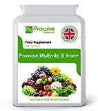 Multivitamin & Iron 180 Tablets ( 6 Months Dose ) - Daily One A Day Multi-vitamin Supplement – Uk Manufactured To Gmp Guaranteed Quality - Suitable For Vegetarians By Prowise Healthcare