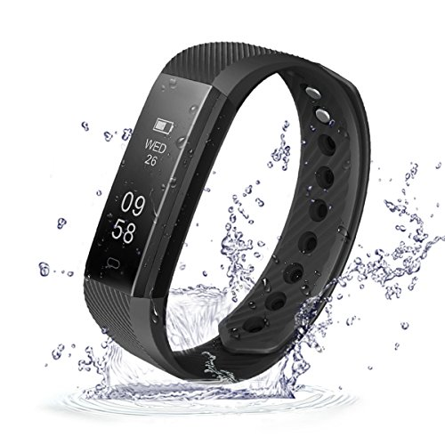 Activity Tracker,ID115 Smart Bracciale,Waterproof IP67 Fitness Sport watch,tester di impulso,Pedometro,calorie counter,chiamate SMS promemoria,Bluetooth 4.0,per iPhone Samsung Android iOS smart phone