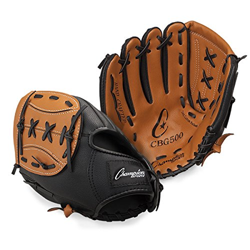 Champion Sports Leather Front Vinyl Back Fielder's Glove (Right-Handed, 13-Inch)