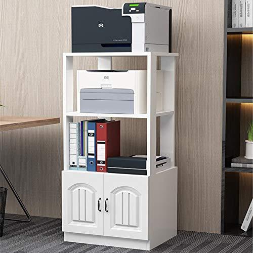 QuRRong Soporte de Impresora Impresora Rack Office Rack Storage Rack Copy Rack Suelo Multi-Capa Almacenamiento Rack Estilo Europeo Gabinete con Puerta para Escáner de Máquina de Fax