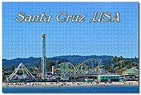 BEI YU MAN.co アメリカアメリカサンタクルスビーチパーク大人のためのジグソーパズル子供1000ピースギフトのための木製パズルゲーム家の装飾特別な旅行のお土産