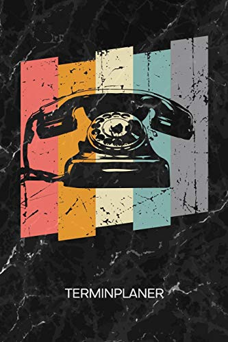 TERMINPLANER: 80er Party Kalender 80er Jahre Terminkalender - Retro Telefon Wochenplaner Vintage Telefon Wochenplanung Vintage Taschenkalender Oldschool To-Do Liste Termine