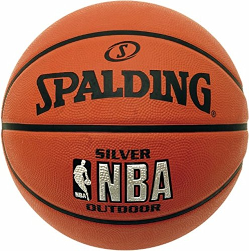 Great Price! Spalding NBA Silver Basketball Size 7