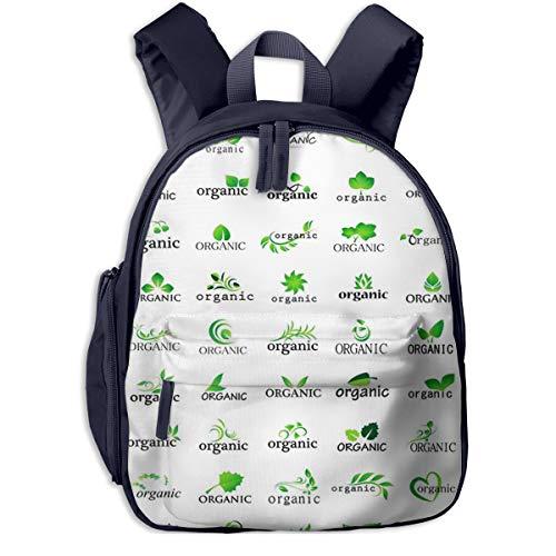 Kinderrucksack Kleinkind Jungen Mädchen Kindergartentasche Grünes Blatt Bio Backpack Schultasche Rucksack