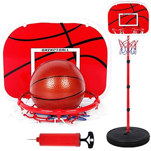 Zcm Basketballkorb 63-165CM Basketball Ständer Höhenverstellbarer Kinder-Basketball Goal Hoop Spielzeug-Set Basketball for Junge Trainings-Praxis-Zubehör (Color : Red)
