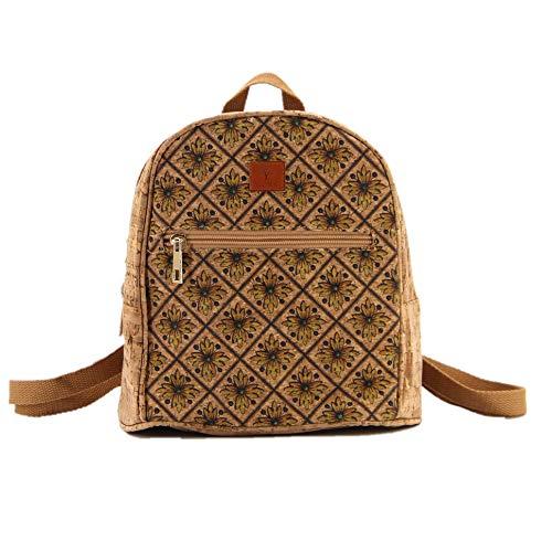 Nakalara kleiner Rucksack für Mädchen, aus Korkleder, leicht, umweltfreundlich, nachhaltig, weich und langlebig, handgefertigt