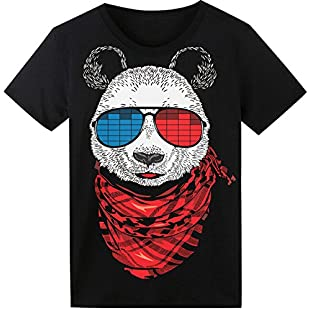 SoooEC Panda Tshirt Equalizer Sound Activated LED T-Shirt for Party Hiphop Cosplay Concert Birthday Gift Best Halloween Costume (X-Large, Panda)