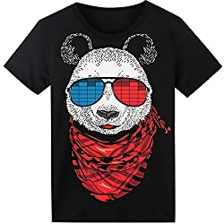 Glow In The Dark Panda Light up Equalizer T-Shirt