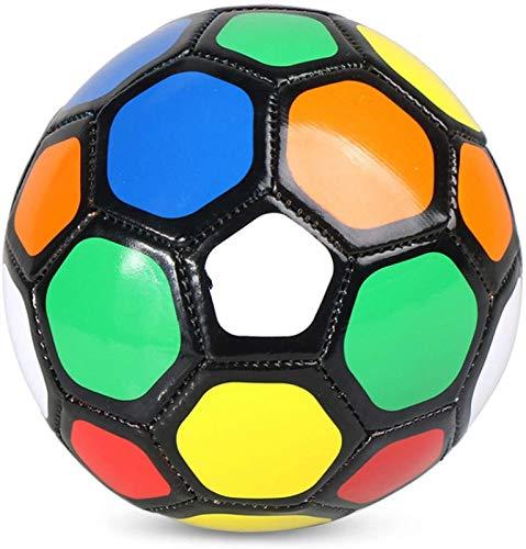 Plztou FootballProfessionalsoccer Balle Match Balls de Entrenamiento Inflable de fútbol de fútbol Regalo para niños Estudiantes (Color : Colorful, Talla : 1)