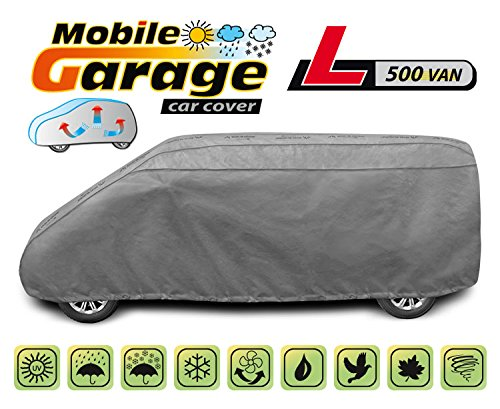 PKWelt Universal Auto Abdeckung Vollgarage Autoplane, L500 Van, Größe 490-520 Zentimeter, Wetterfest, UV-beständig