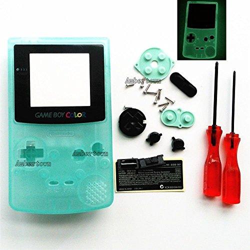 Carcasa completa de repuesto para Nintendo Gameboy Color GBC Luminous Green Edition, brilla en la oscuridad