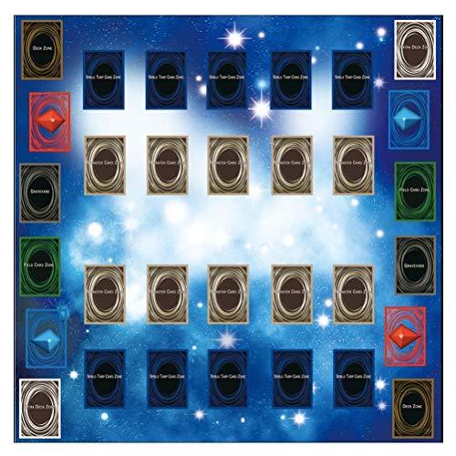 FSDELIV Estera de juego de goma de 60 x 60 cm Estera de juego de bebé portátil Galaxy Style Competition Pad Baby Game Mat