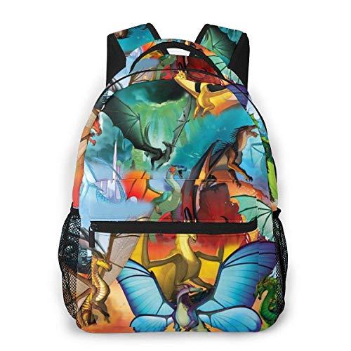 IUBBKI 3D Print Wings of Fire Casual Backpack,Multifunctional Schoolbag Knapsack Rucksack