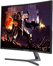 "Sceptre C275B-144RR AMD FreeSync DisplayPort HDMI DVI Ports 27"" Curved Professional 144 Hz Monitor Metal Black"