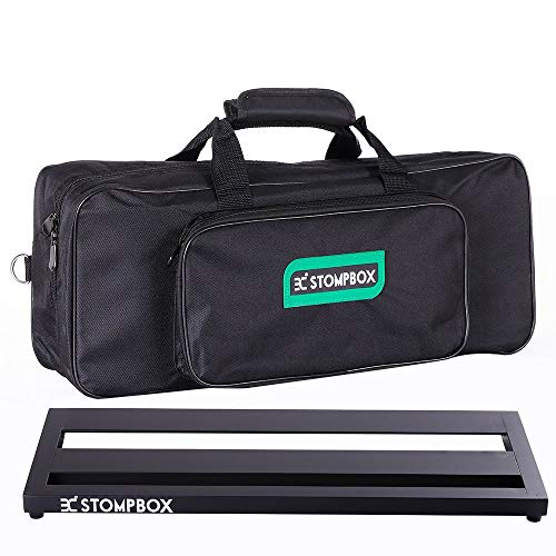 Ex Portable Aluminum Guitar effects Pedalboard With Waterproof Soft Bag, ENO Ex Guitar Effects Pedals Accessories (21' Medium Pedalboard with Bag)