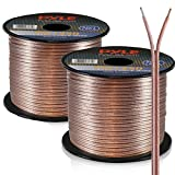 Pyle 50ft 12 Gauge Speaker Wire - Copper Cable in Spool for Connecting Audio Stereo to Amplifier, Surround Sound System, TV Home Theater and Car Stereo - PSC1250