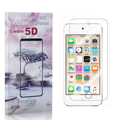 Conber [1 Pièces] Verre Trempé pour iPod Touch 6th Generation, [9H Dureté][Haut Définition][sans Bulles] Ultra-résistant Film de Protection écran pour iPod Touch 6th Generation
