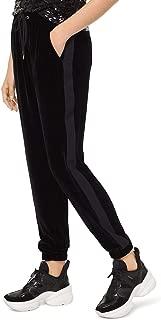 MICHAEL KORS Womens Black Velvet Jogger Pants US Size: L