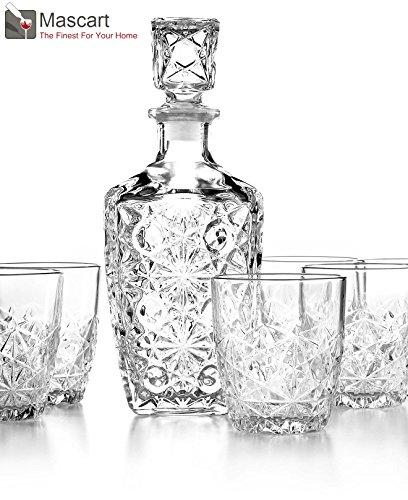 Bormioli Rocco Dedalo 7 piezas Juego de botella y vasos de