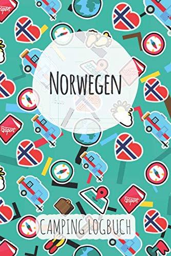 Norwegen Camping Logbuch: Reisetagebuch & Notizbuch für Camper