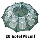 ChenCheng Verstärkter 4-20 Löcher Automatische Fischnetz Garnelen Käfig Nylon Faltbare Crab Fish Trap Net Cast Folding Angelnetz Cast /@ (Color : 10 Sides 20 Holes)