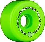 RollerBones Team Logo 101A Recreational Roller Skate Wheels (Set of 8), Green, 62mm