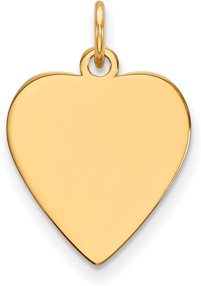 Jewels By Lux 14K Yellow Max 43% OFF Gold Heart Gauge Engravable .011 security Plain