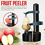 Atezch Electric Rotato Peeler,Multifunctional Stainless Steel Electric Peeler Automatic Potato Peeler Rotating Fruits & Vegetables Peeling Machine with 2 Extra Blades Kitchen Peeling Tool