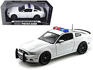 2013 Ford Mustang Boss 302 White Unmarked Police Car 1/18 Car Model by Shelby Collectibles
