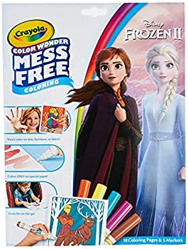 Crayola Frozen Color Wonder Coloring Book & Markers Mess Free Coloring Gift for Kids Age 3 4 5 6  Styles May Vary